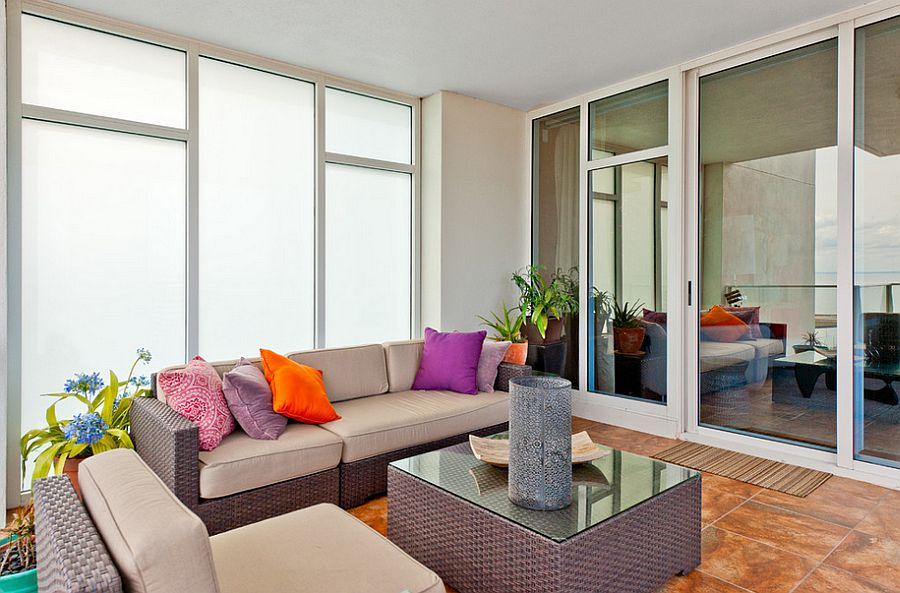 Smart sunroom for the contemporary apartment [Design: Your Design Envy]