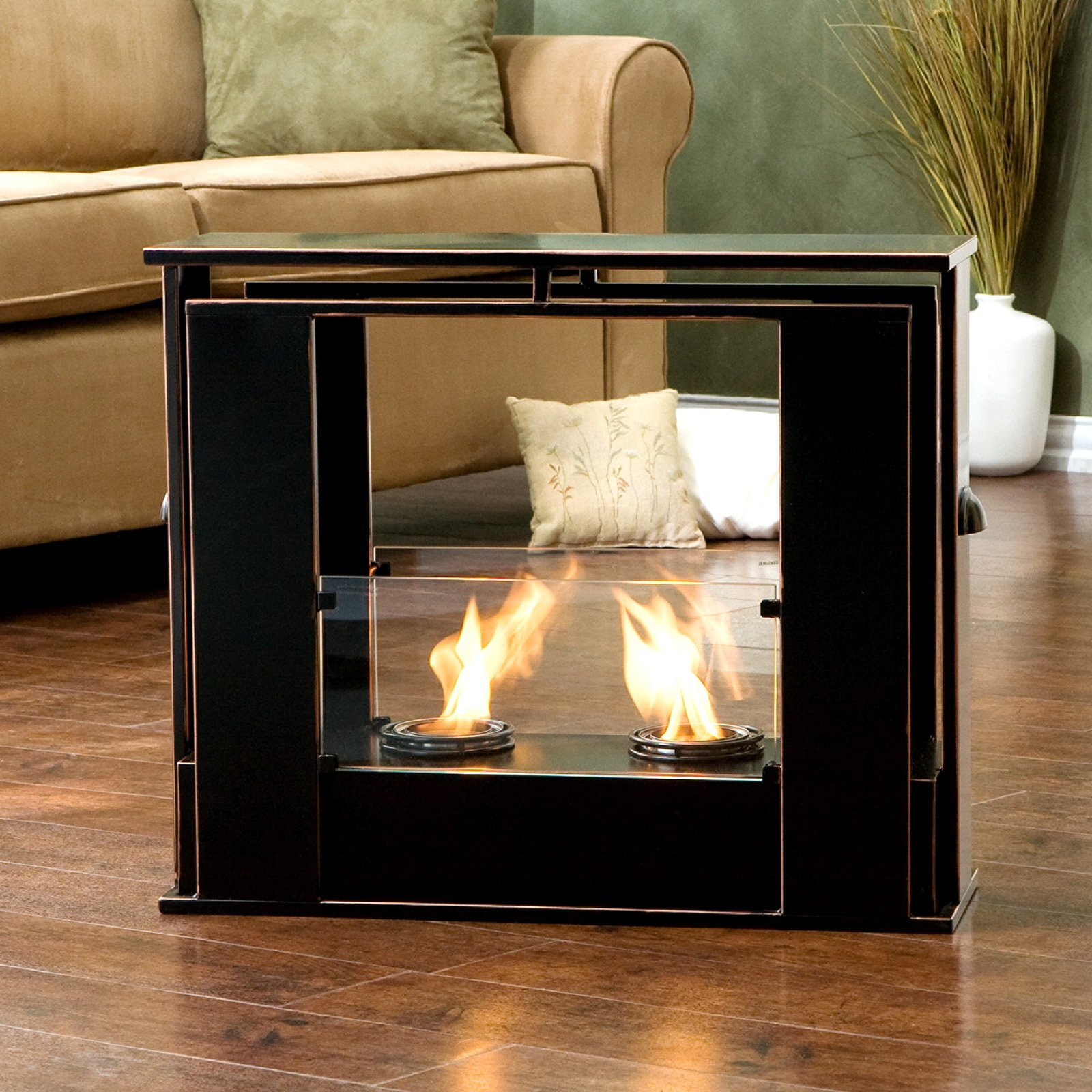 Southern Enterprises portable fireplace from Hay Needle