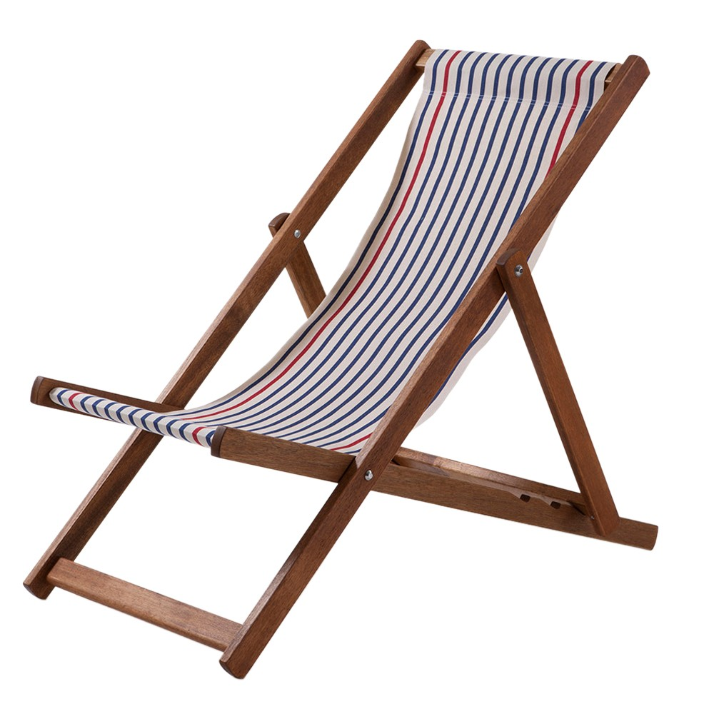 Southsea traditional woven cotton deckchair