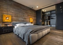Spacious walk-in closet for the loft bedroom