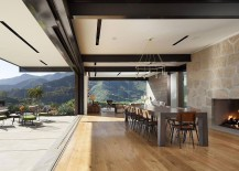 Stackable doors open up the home to the majestic views outside