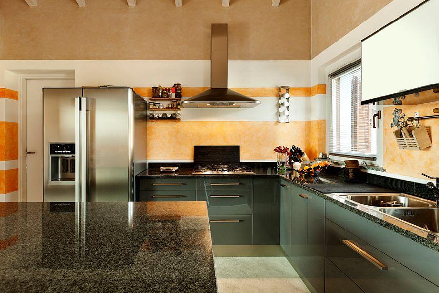 Streamlined splash of orange for the modern kitchen