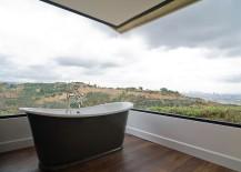 Stunning corner window brings the magic of landscape outside indoors