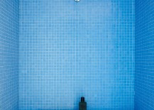 Stunning shower filled with blue tile 217x155 Shower Power: Unforgettable Designs to Wash Away Your Cares