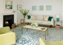 Subtle and stylish way to add golden hue to the modern living room [Design: Amory Brown]