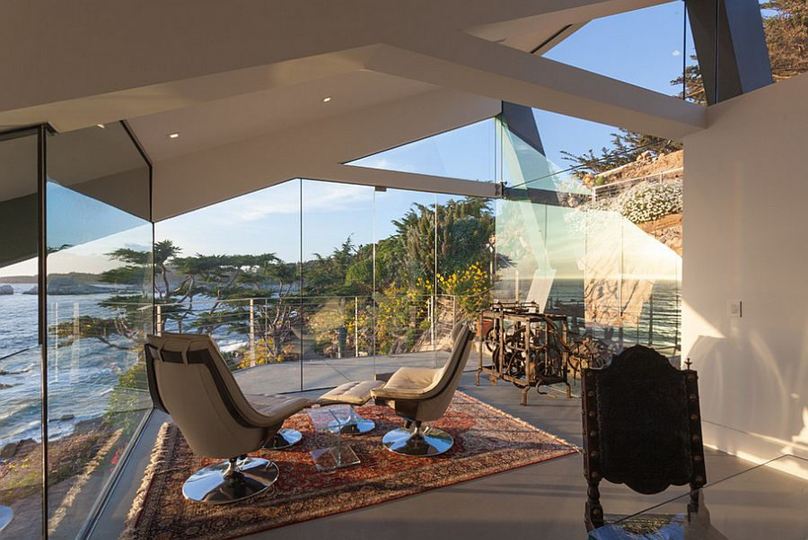 Sunroom provides a space for relaxation and reflection as you overlook the rigged coastline [Design: Eric Miller Architects]  50 Bright and Beautiful Contemporary Sunrooms Sunroom provides and space for relaxation and reflection as you overlook the rigged coastline