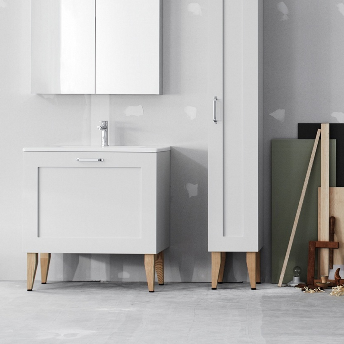 Swoon Square vanity unit in white