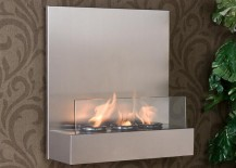 Tate Stainless SteelGlass Wall mount Fireplace from Overstock 217x155 12 Cozy & Portable Fireplace Ideas for the Modern Home