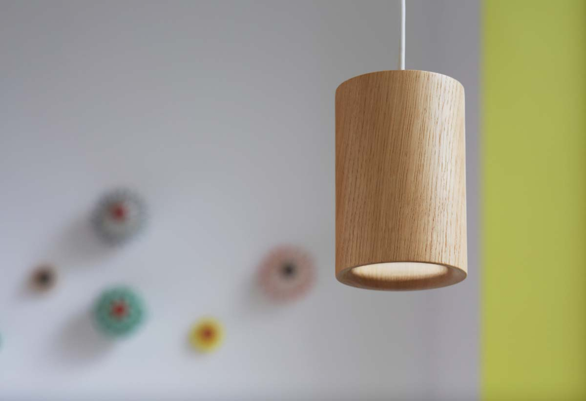 Terence Woodgate Solid Cylinder Pendant Light
