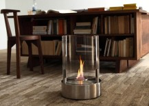 The Cyl tea light fireplace from Ecosmart Fire 217x155 12 Cozy & Portable Fireplace Ideas for the Modern Home