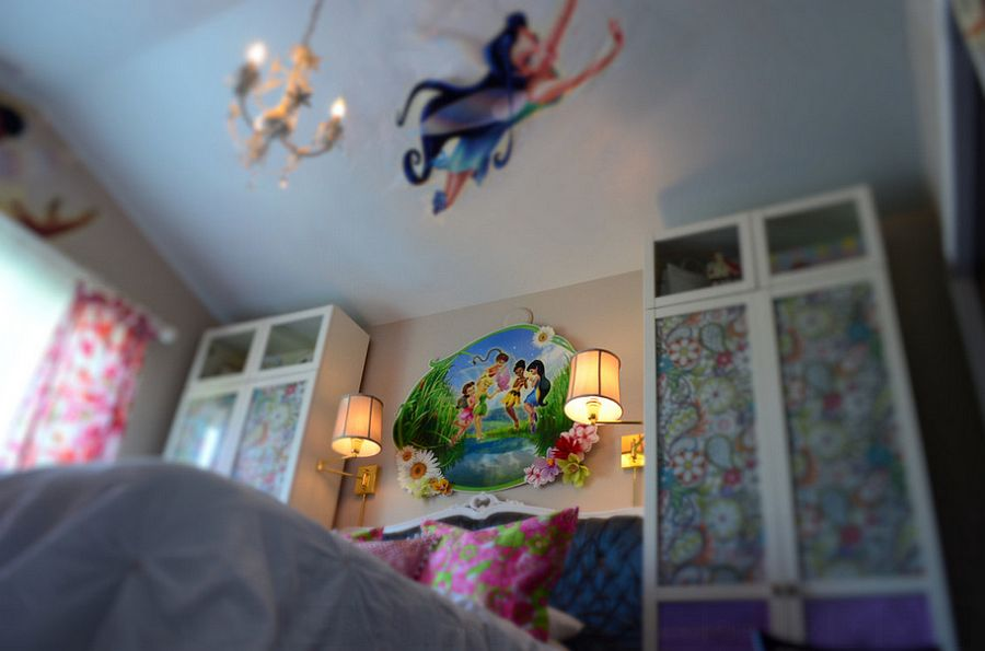 Tinker Bell-inspired bedroom with plenty of color [From: Roshini Padmaperuma]