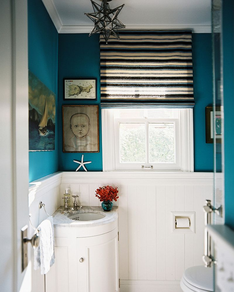 30 creative ideas to transform boring bathroom corners for Powder room vanities for small spaces