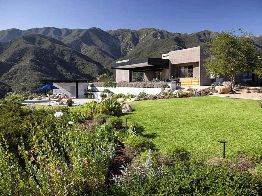Toro Canyon House outside of LA set in a stunning natural landscape Serene Mountaintop Escape Unveils Birds Eye View of Santa Barbara Coastline