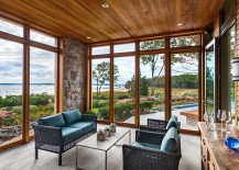 Touch of stone beauty for the sunroom