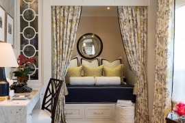 Traditional home office turned into a gorgeous guestroom