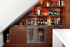 transform the space under the stairs into a home bar 20 small home bar ideas