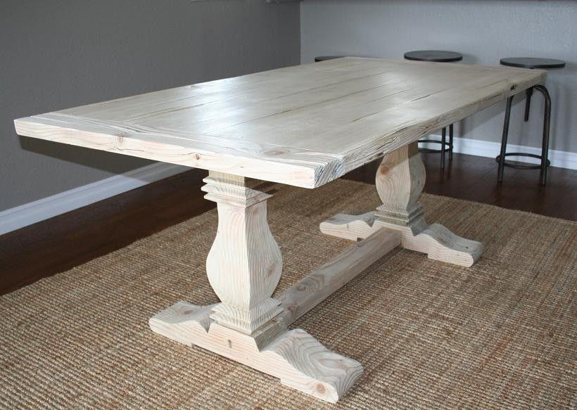 Trestle table from Custom Made
