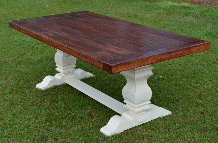 Trestle table from Etsy shop GroversGrove