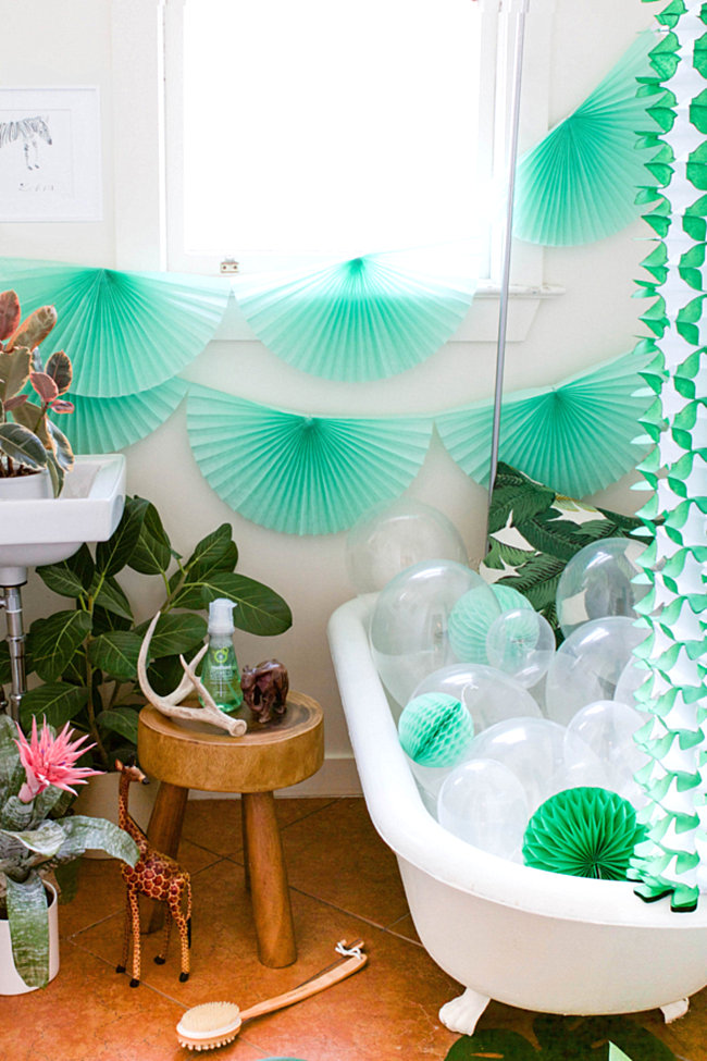 Tropical party style from Oh Happy Day