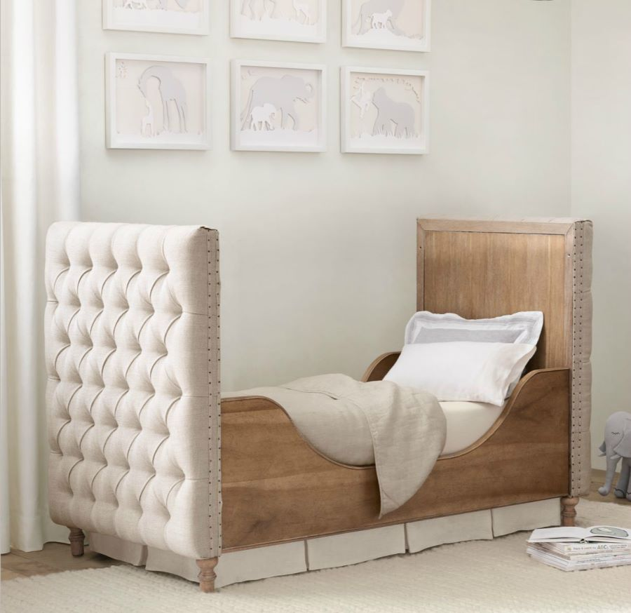 Tufted crib from Restoration Hardware