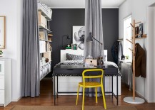 Turn that small nook into a dashing bedroom