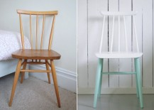 Two-tone painted chairs
