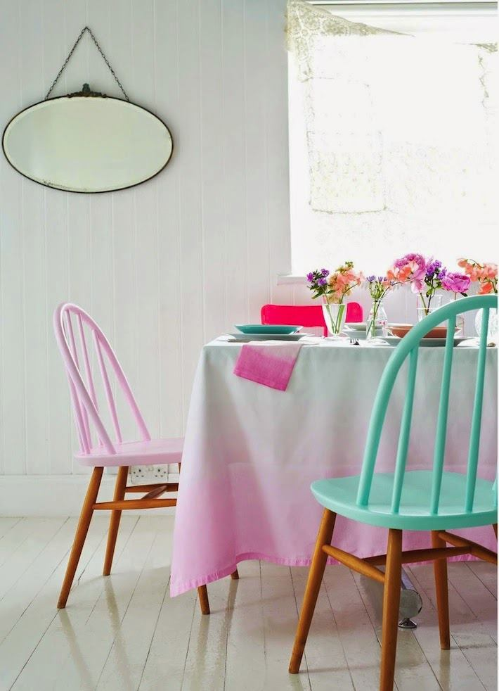 Two-toned chairs from Sprunting!