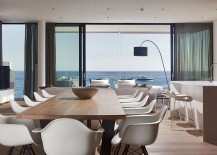 Unabated sea views from the dining room of the home in Novigrad