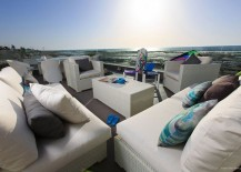 Unabated view of the majestic Atlantic Ocean and coastline from the private balcony lounge