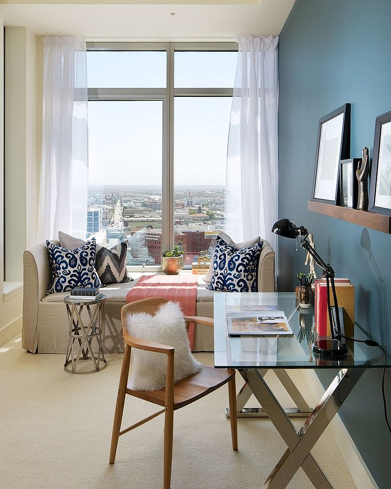 25 versatile home offices that double as gorgeous guest rooms for Home office room ideas