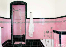 For those of you who are like me and mostly prefer it as design eye candy, have a look at some of the following awe-inspiring pink retro bathrooms below!