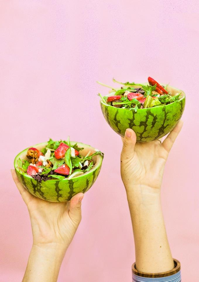 Watermelon bowls from Proper