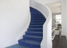 Weathered blue floor tile