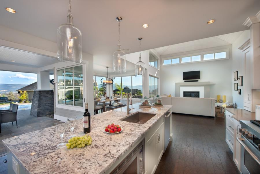 White granite in a bright modern home