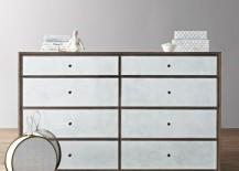 Wide mirrored dresser from RH Baby & Child