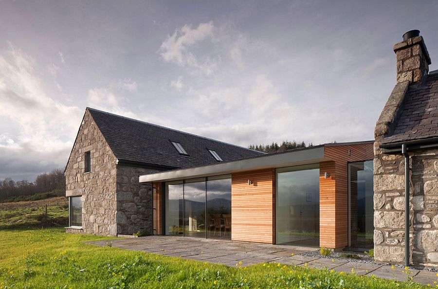 Wood And Stone House revitalized cottage in stone and wood captures the aura of