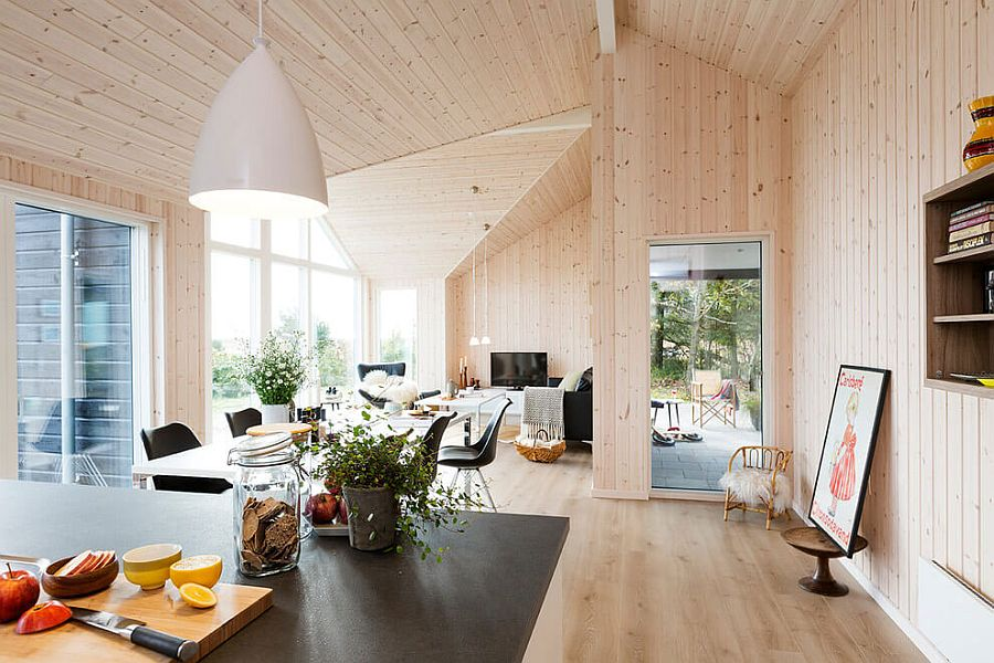 View In Gallery Wooden Walls And Roof Of The Summer Home Gives It Inviting  Warmth