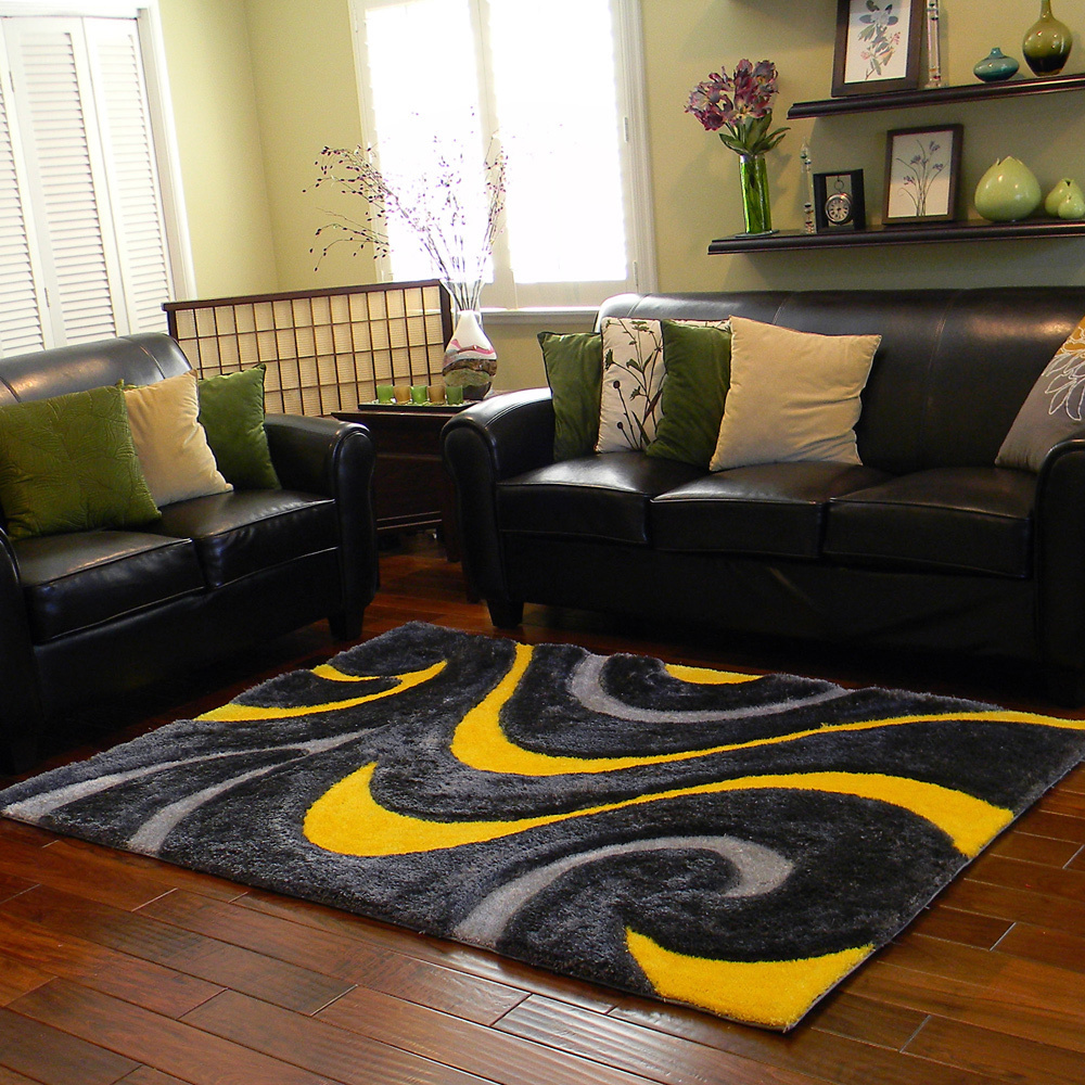 Yellow Donnie Ann abstract rug from Overstock  25 Yellow Rug and Carpet Ideas to Brighten up Any Room Yellow Donnie Ann abstract rug from Overstock