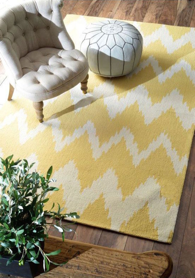 Yellow Radiante Nuo Chevron Ikat rug from Rugs USA  25 Yellow Rug and Carpet Ideas to Brighten up Any Room Yellow Radiante Nuo Chevron Ikat rug from Rugs USA1