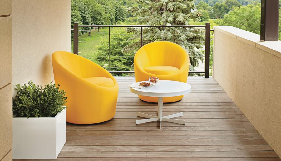View In Gallery Yellow Swivel Chairs From Room U0026 Board
