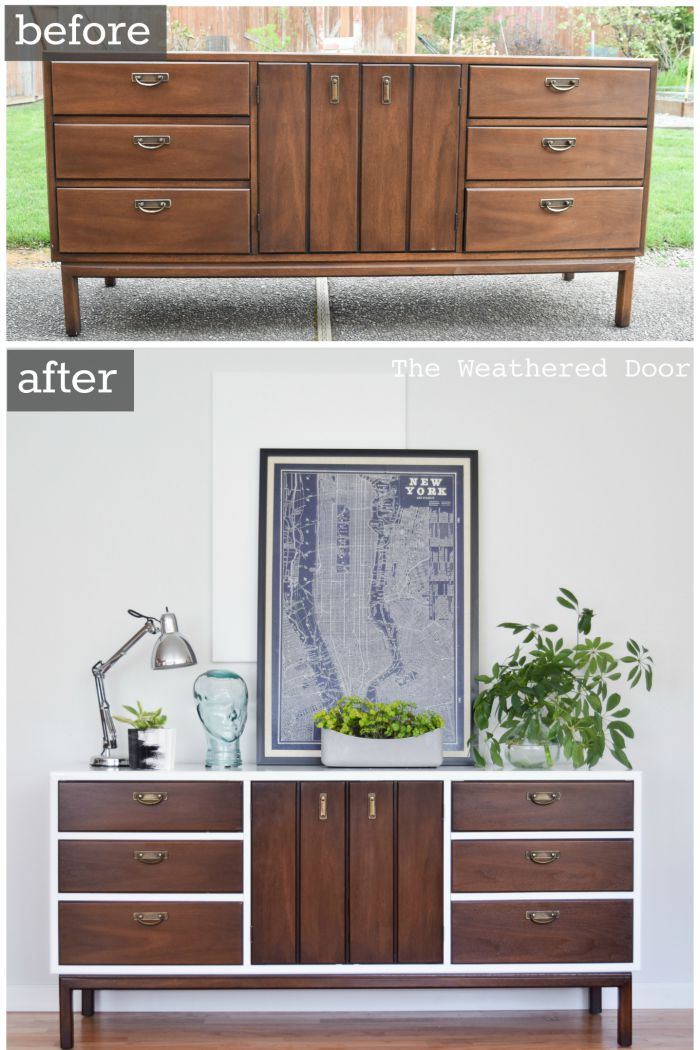 An all-of-a-sudden-modern credenza.