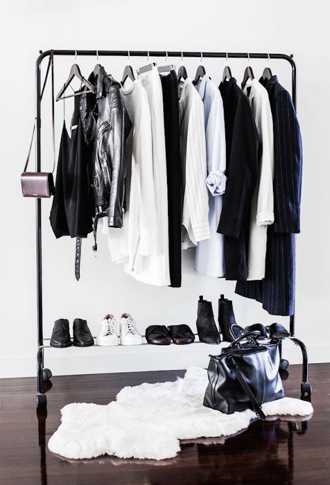 Beautiful black clothing rack for storage