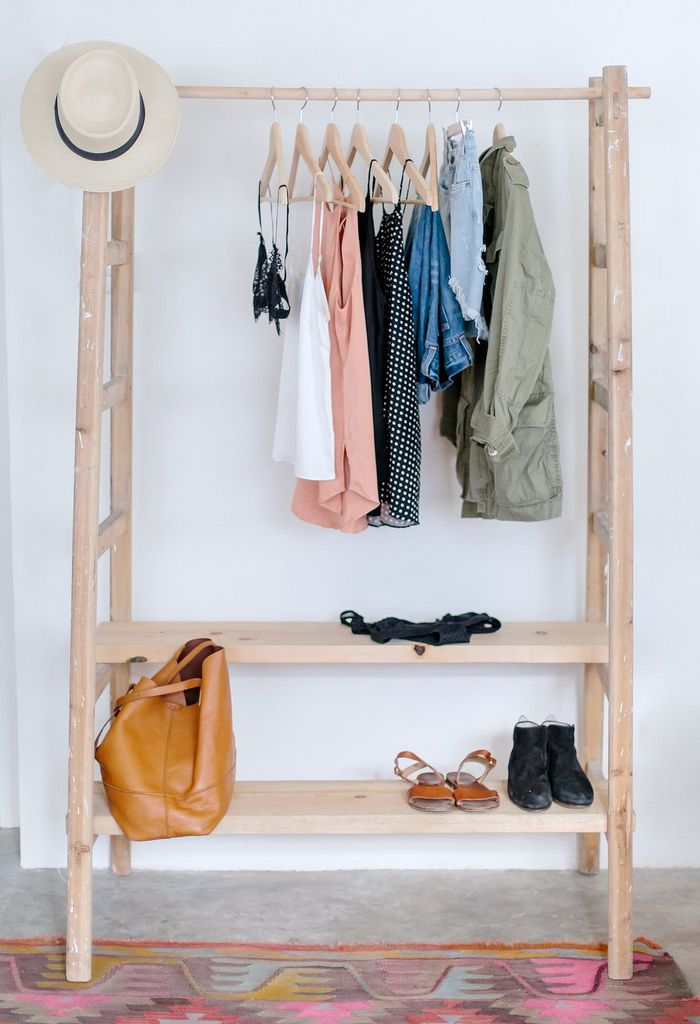 18 open concept closet spaces for storing and displaying - Clothing storage ideas no closet ...