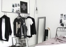 Hanging rack for a striking open concept closet