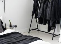 Black and white minimalist clothing rack closet