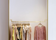 minimalist closet 8 217x155 18 Open Concept Closet Spaces for Storing and Displaying Your Wardrobe