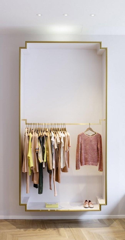Unique box-shaped closet for open concept design