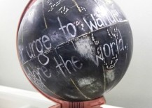 Painted Globe in copper and black