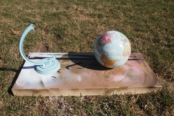 Spray Painting Globe