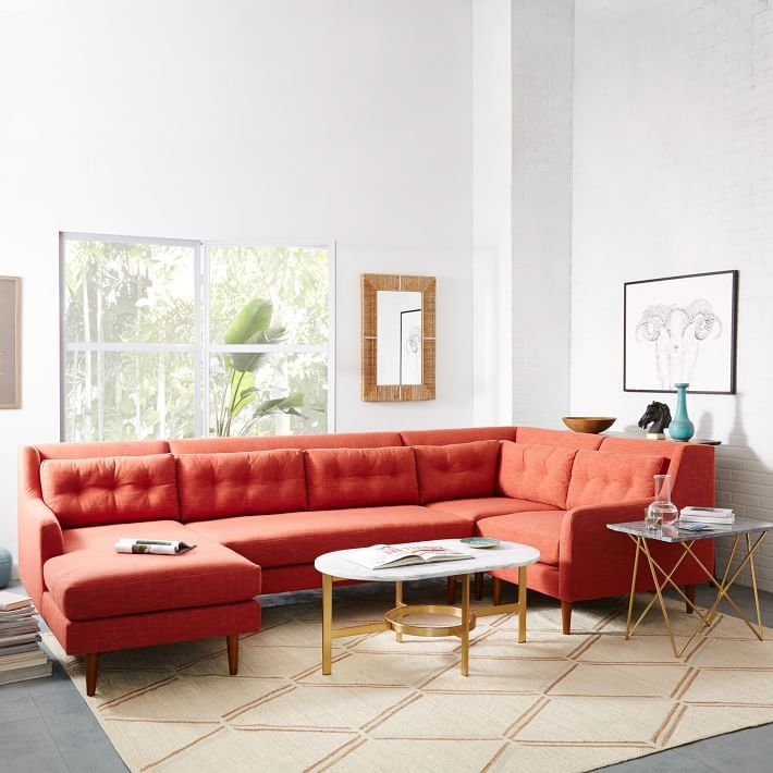 View In Gallery 4 Piece Sectional From West Elm